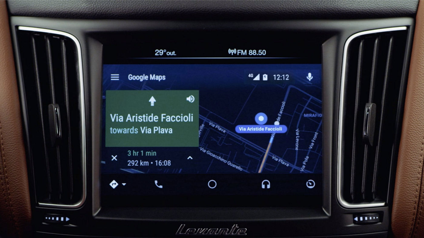 Maserati display and Android Auto: connect your Android mobile device