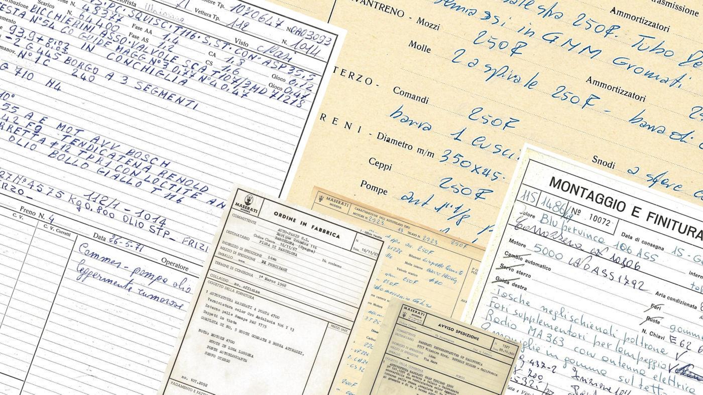 Maserati Classic Services: Historische Dokumentation
