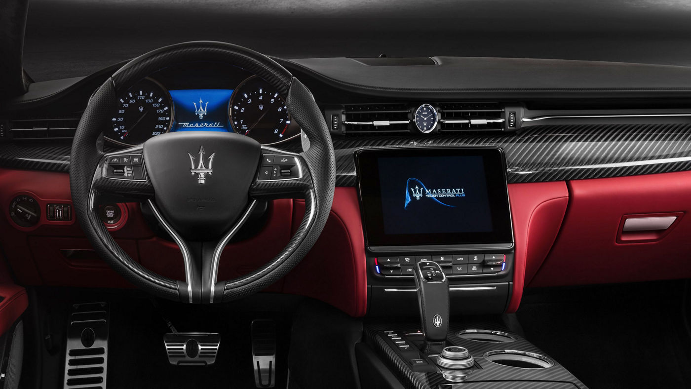 Image of cockpit and infotainment dashboard
