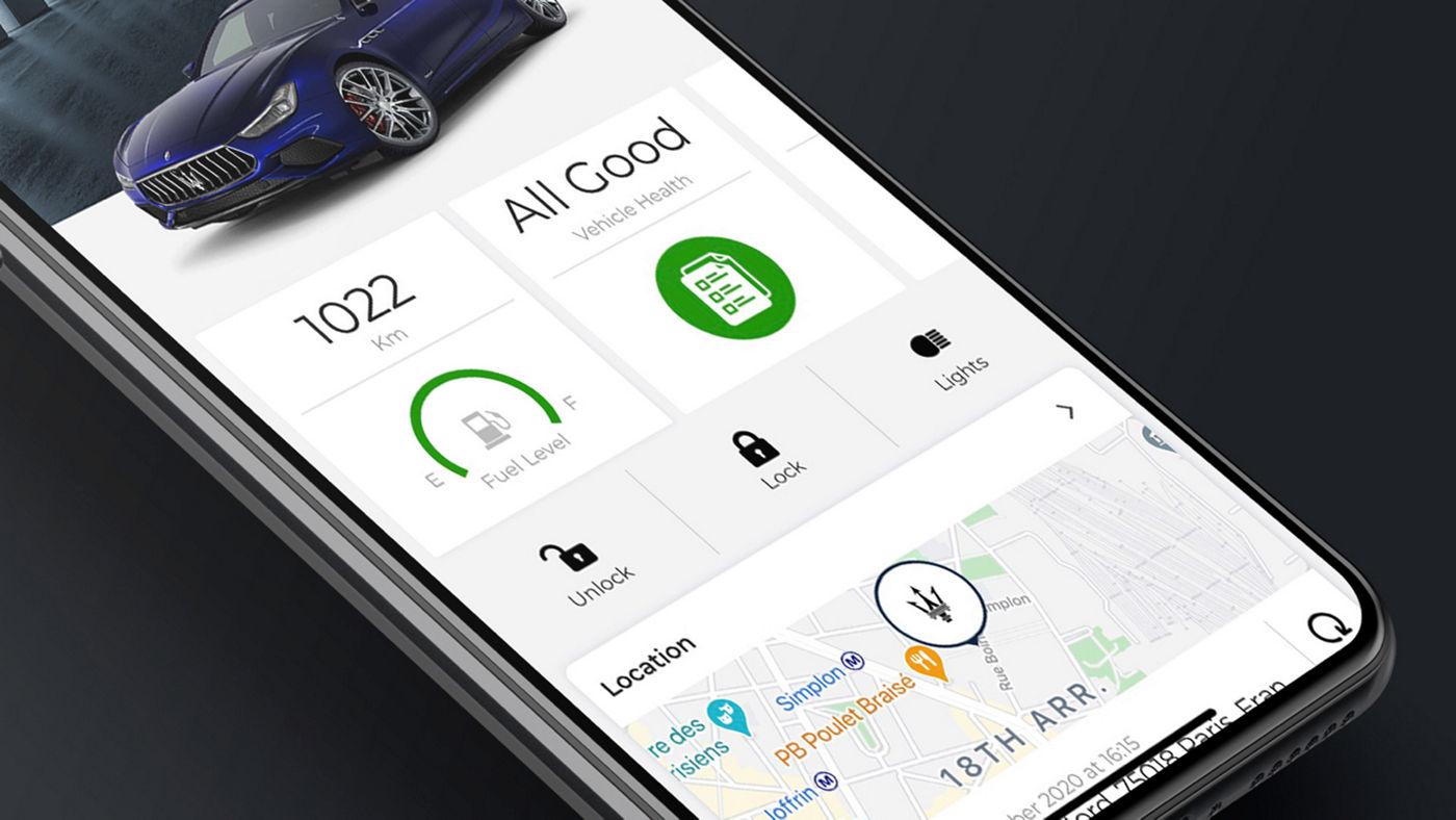 Maserati Connect: Maserati mit Smartwatch, Handy oder virtuellen Assistenten verbinden