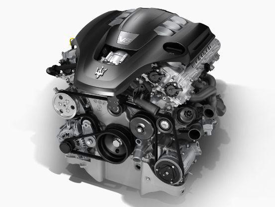 Maserati V6 Engine - structure view