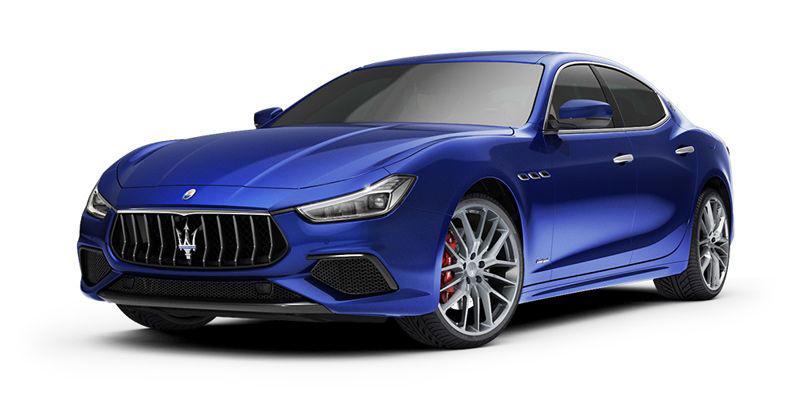 2018 Maserati Ghibli SQ4 - blue, front-side view