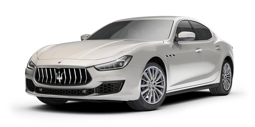 Maserati Ghibli S Q4 2018 - berline luxe - carrosserie blanche - vue latérale