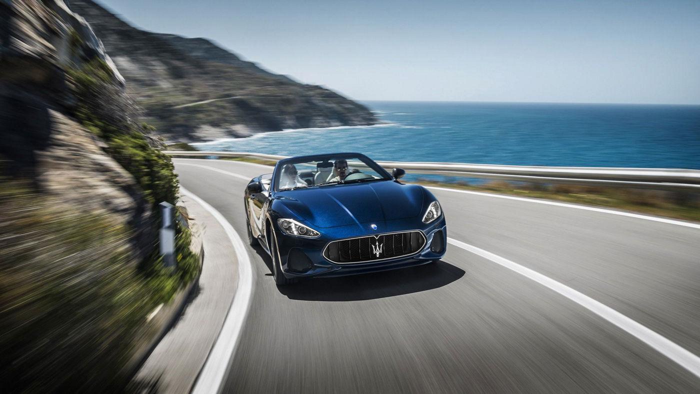 2018 Maserati GranTurismo Convertible In Motion - Front