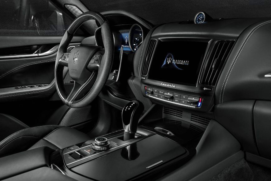2018 Maserati Levante GranSport - black leather interior and dashboard details
