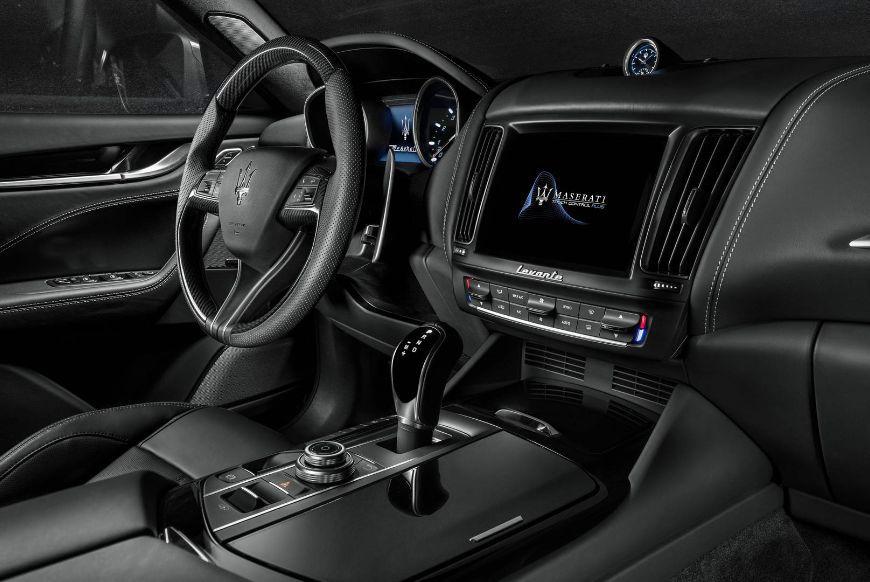 2018 Maserati Levante GranSport - black leather interior and dashboard details