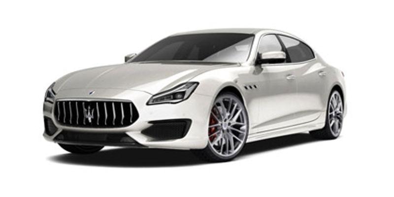2018 Maserati Quattroporte GTS GranSport - white, front-side view