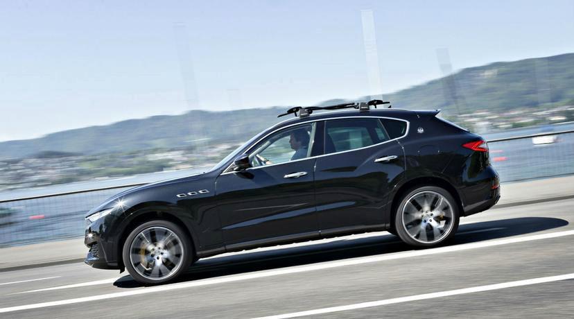 Joko Vogel im Maserati Levante