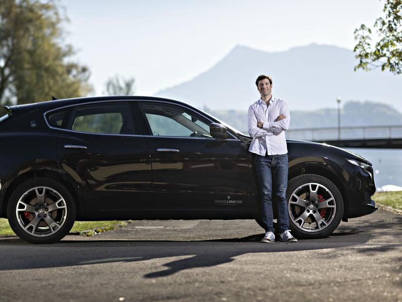 Mario Gyr und sein Maserati Levante