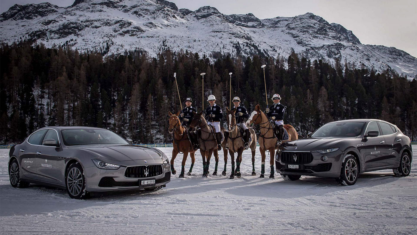 Maserati Polo Tour 2017 - Snow Polo St Moritz - Ghibli, Maserati Polo Team, Levante