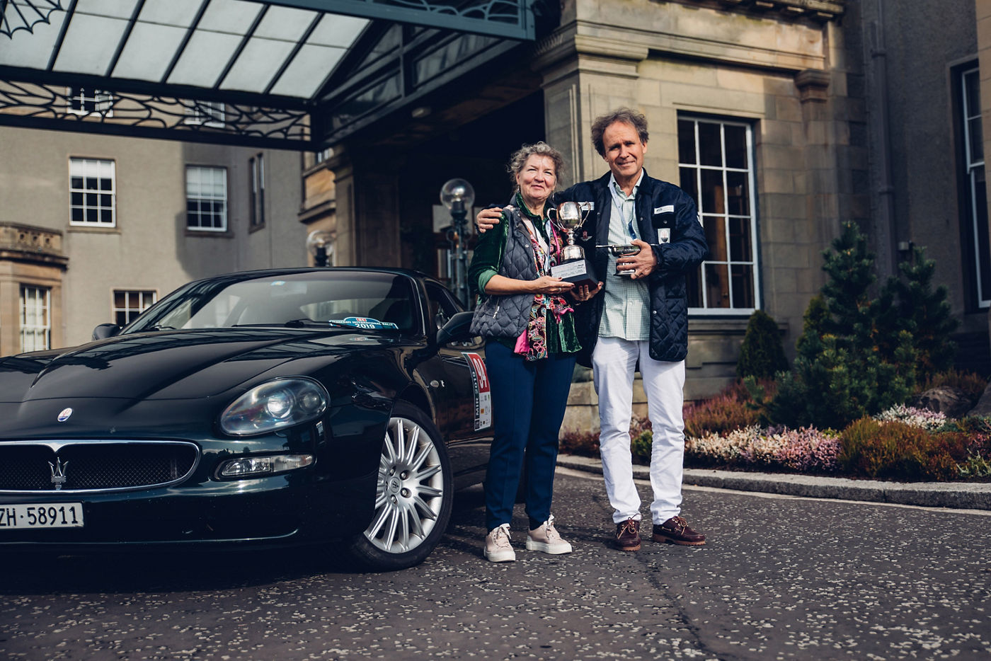 Maserati International Rally 2019 - Gleneagles Hotel Winners of the Peter Martin Trophy