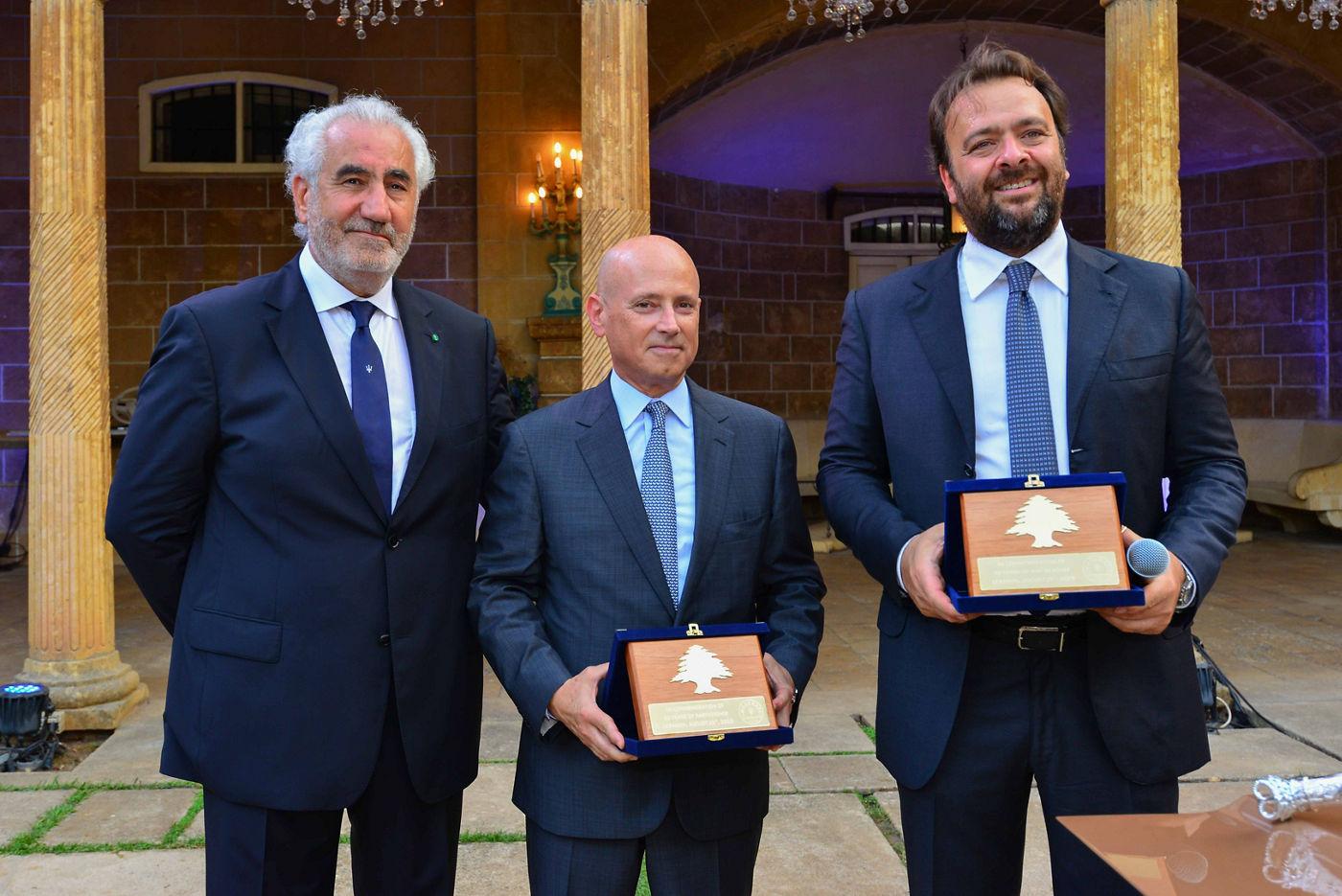 Nabil Bazerji, MD G.Bazerji & Fils , H.E Massimo Marotti, italienischer Botschafter im Libanon & Umberto Cini, General Manager Maserati EMEA