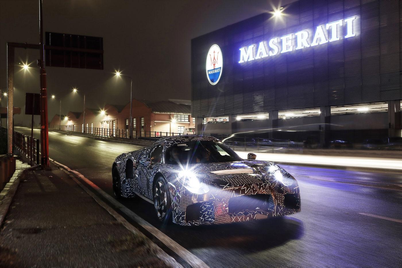 Maserati new mule at Modena