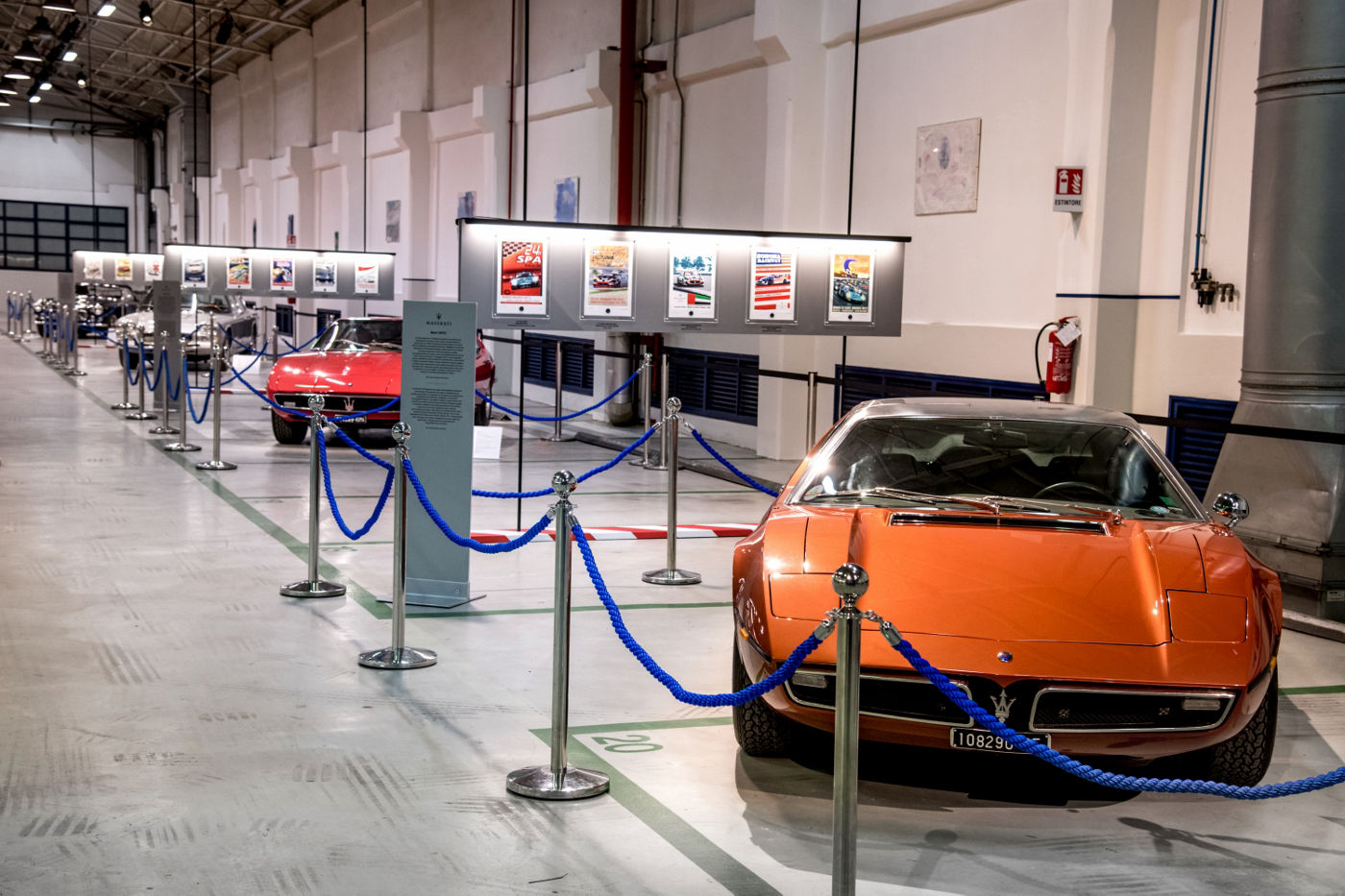 Car exhibition Maserati Headquarter in Modena