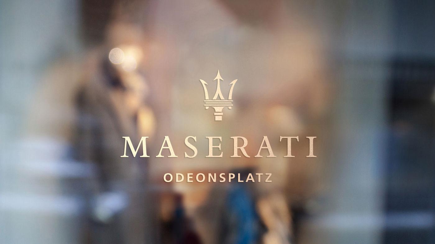 Maserati am Odeonsplatz in München