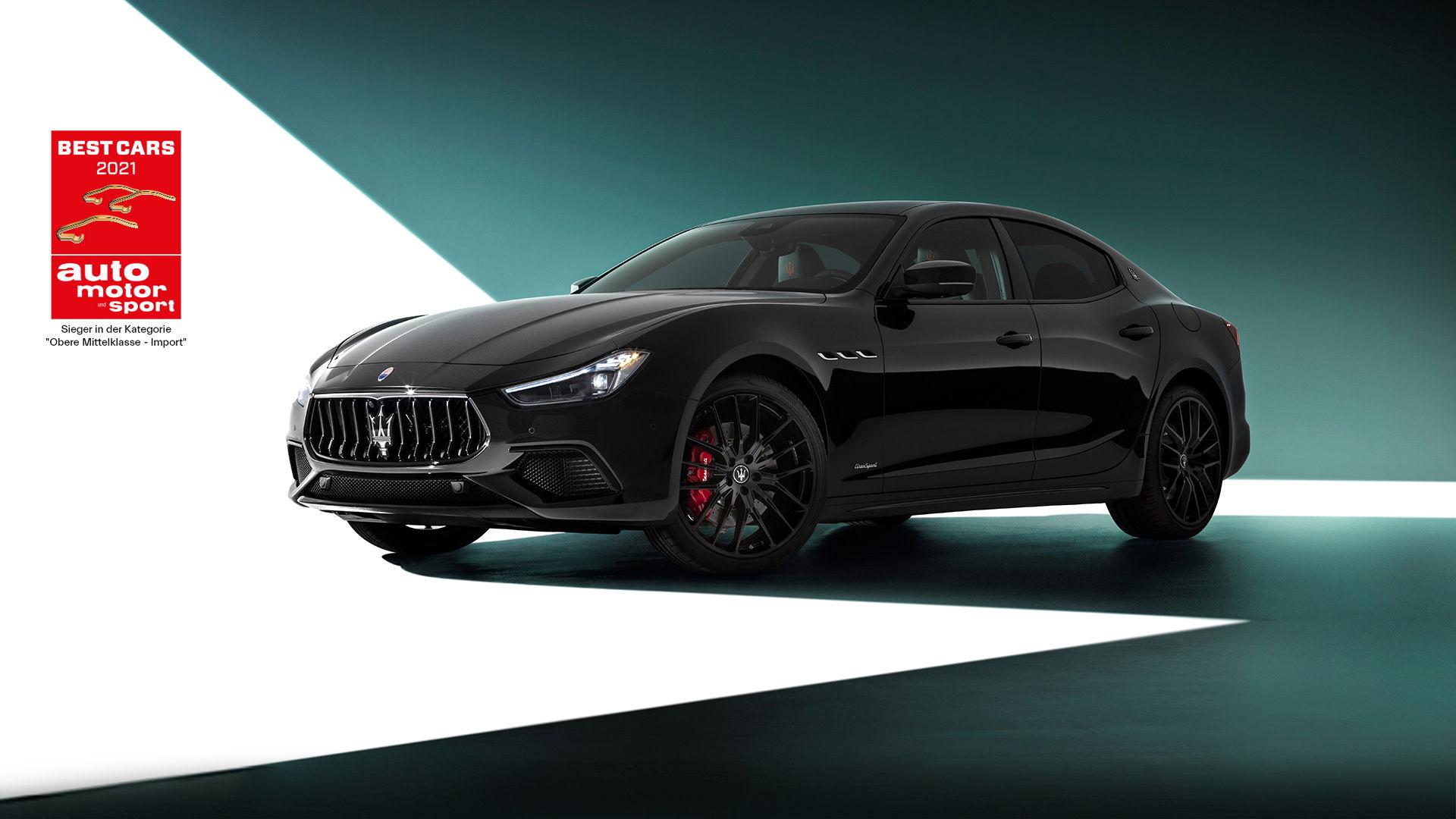 Maserati Ghibli MY21 in Schwarz: sportlich-elegant