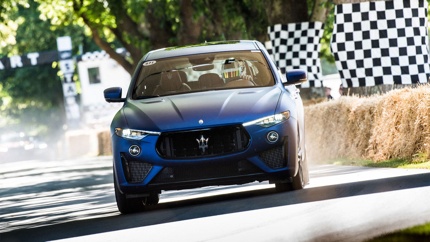 Maserati Levante Trofeo at Goodwood Festival, front view