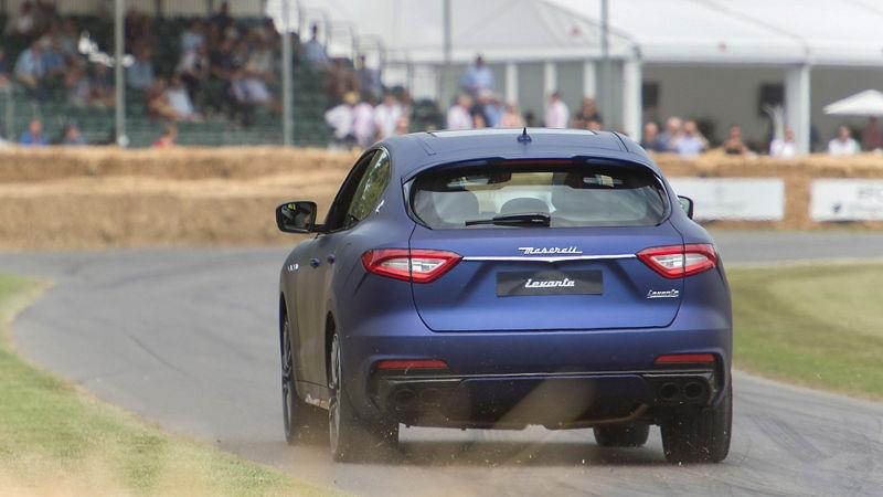 Maserati Levante Trofeo at Goodwood Festival, rear view