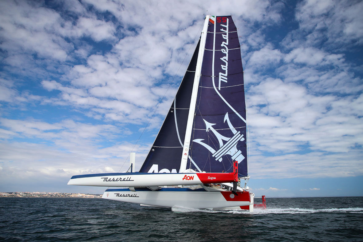 Maserati technical partnership with Giovanni Soldini - Maserati Multi 70 trimaran