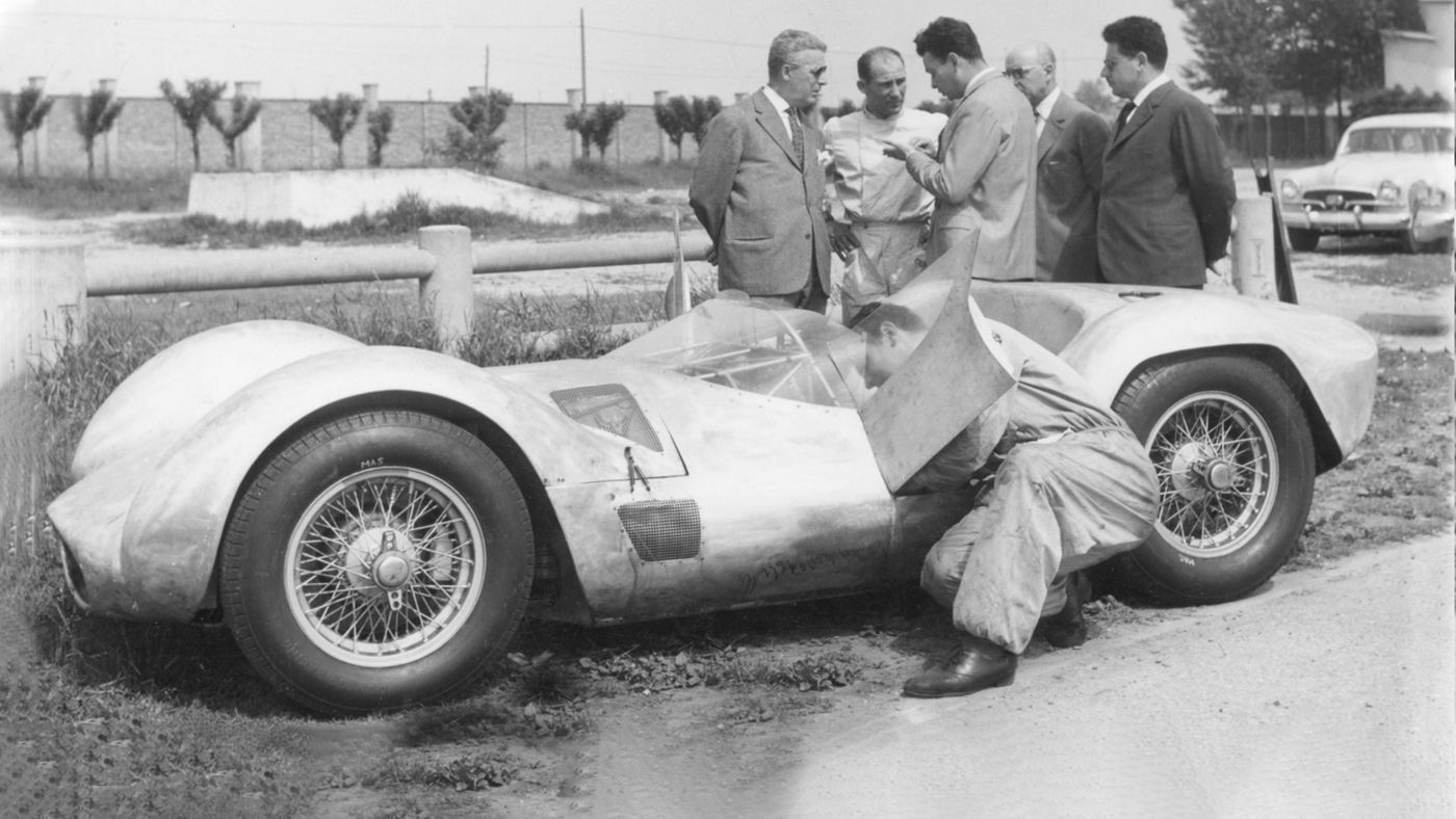 "Maserati Tipo 60 ""Birdcage"" race debut at Rouen in 1959"