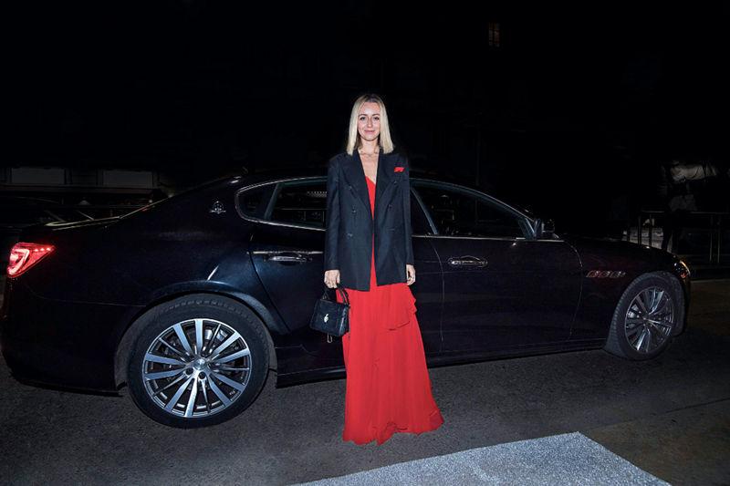 Nataly Osmann Maserati Quattroporte