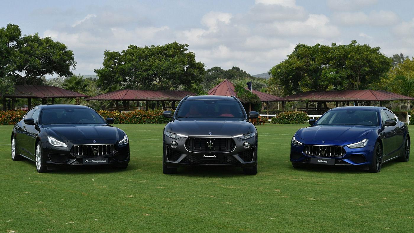L'ammiraglia Quattroporte, il SUV Levante e la berlina Ghibli auto ufficiali del Torneo Internazionale di Polo firmato Maserati e La Martina