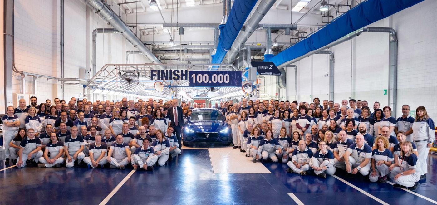 Maserati Ghibli n° 100.000 prodotta allo stabilimento Avv. Giovanni Agnelli
