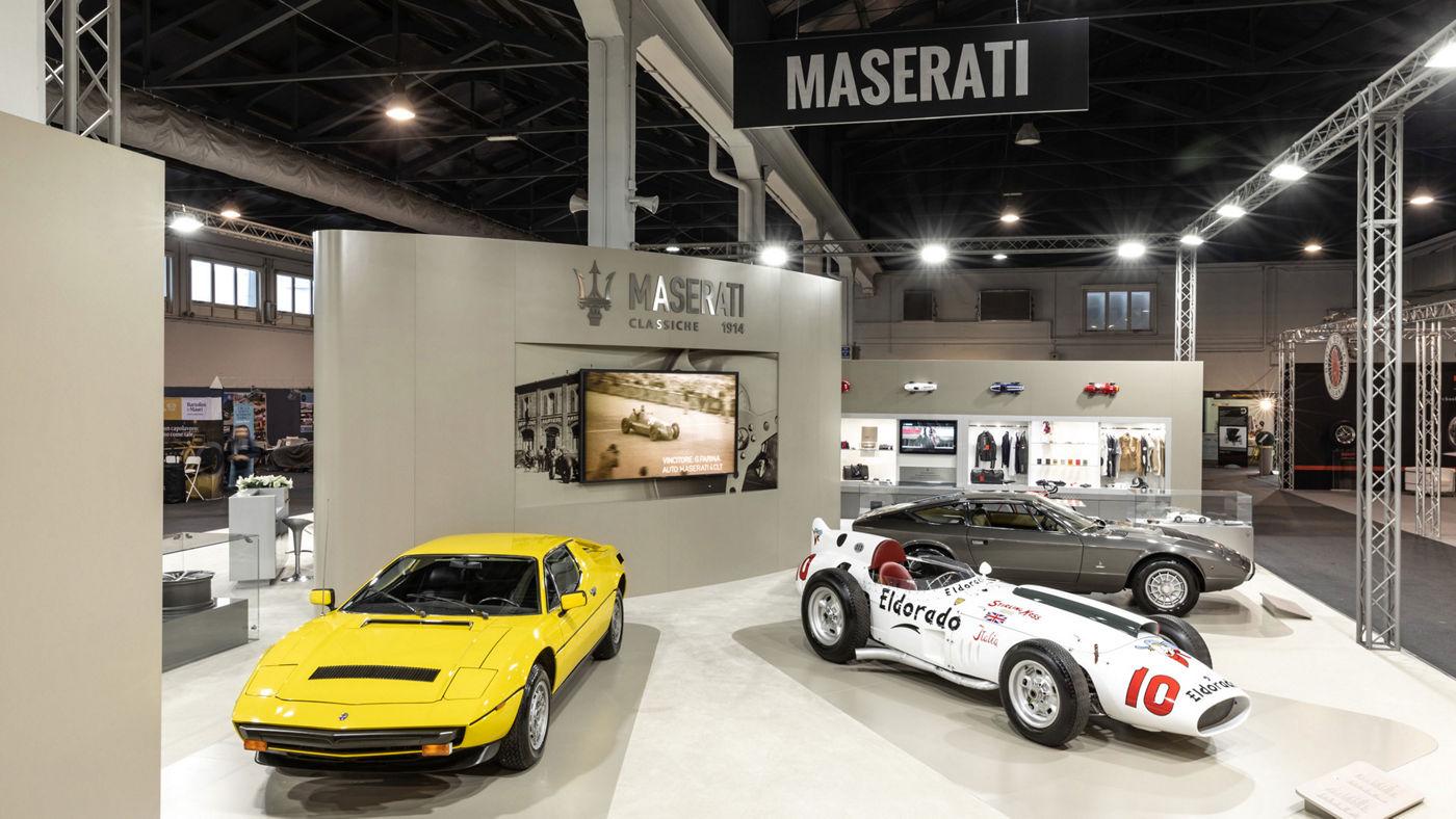 Lo stand di Maserati al Salone di Padova 2018