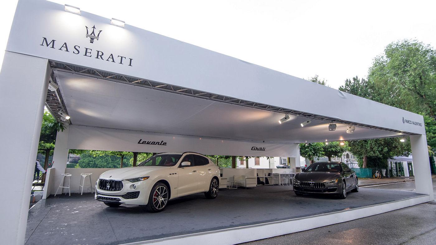 Lo stand Maserati al Parco del Valentino di Torino