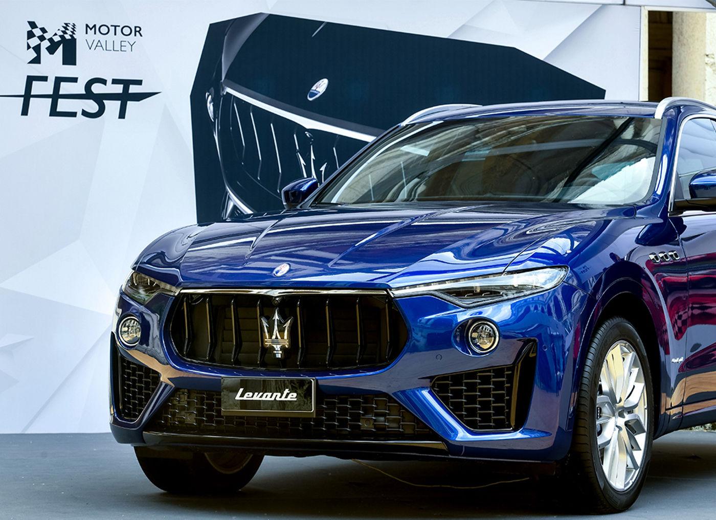 Maserati Levante colore Blu Emozione - Motor Valley Fest 2019