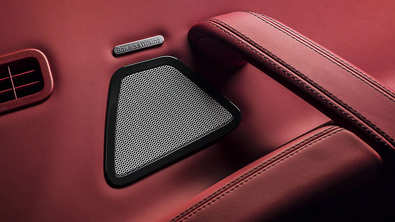 Maserati interior – A detail of the Bowers & Wilkins Ultra Premium Audio system