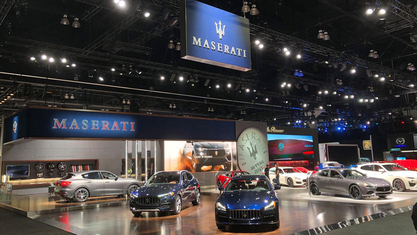 Maserati au salon de l'auto Los Angeles 2018