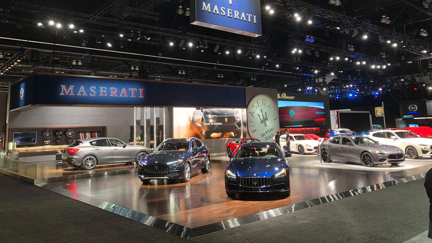 All Maserati models displayed at Los Angeles Auto Show 2019