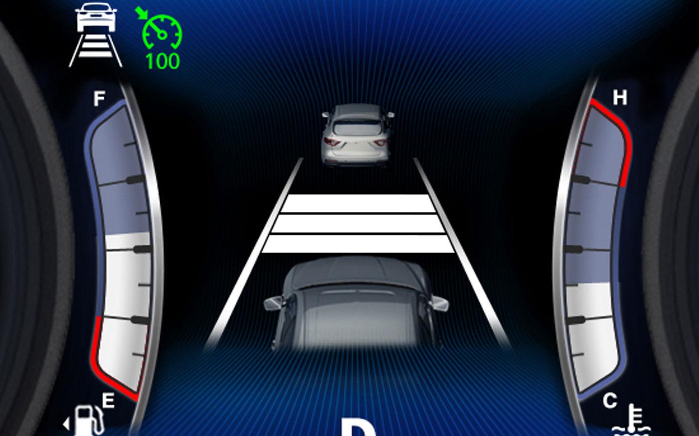 Maserati Quattroporte - Détail système d'assistance routière