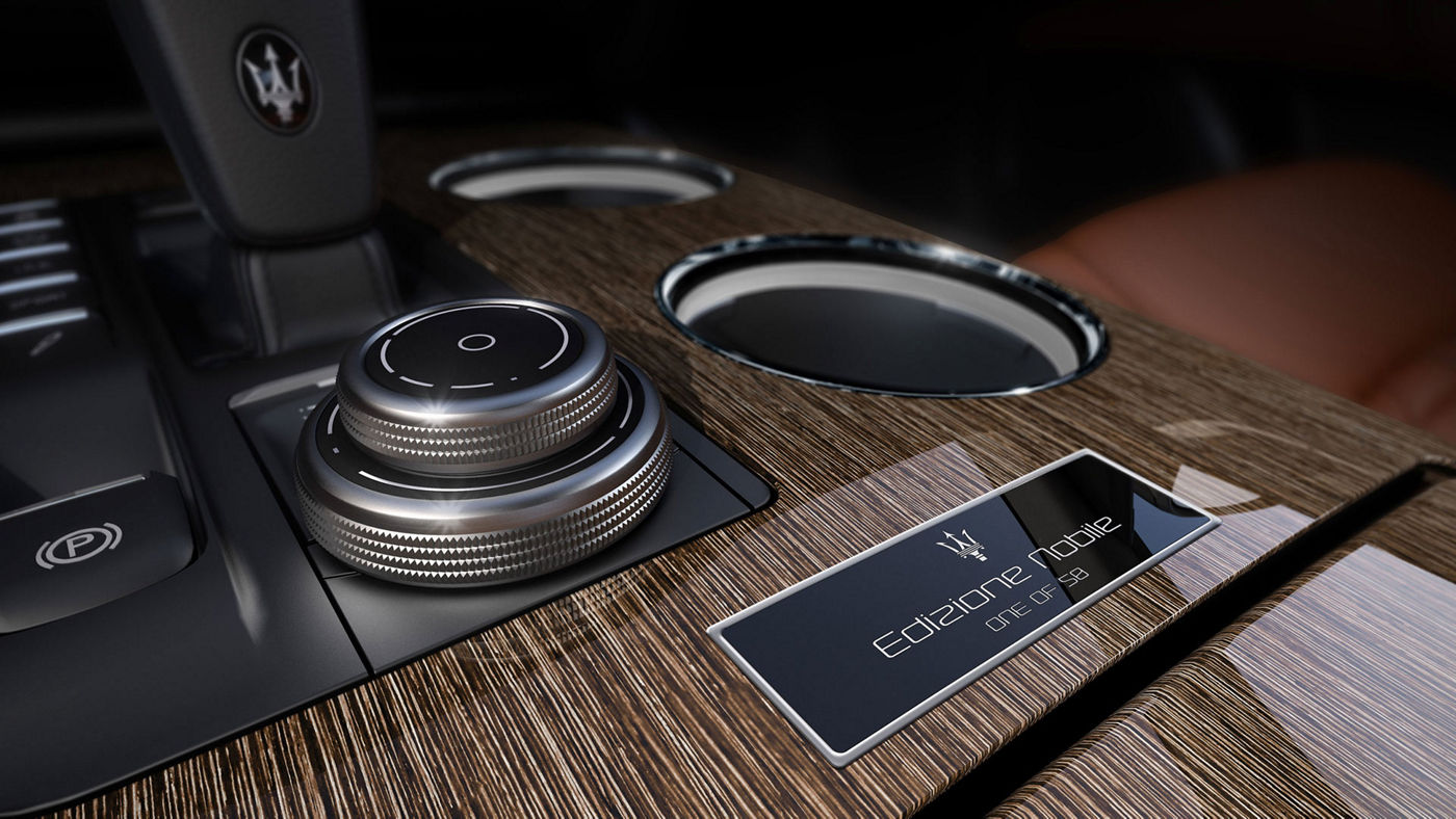 Ghibli Edizione Nobile limited edition - a detail of the central console