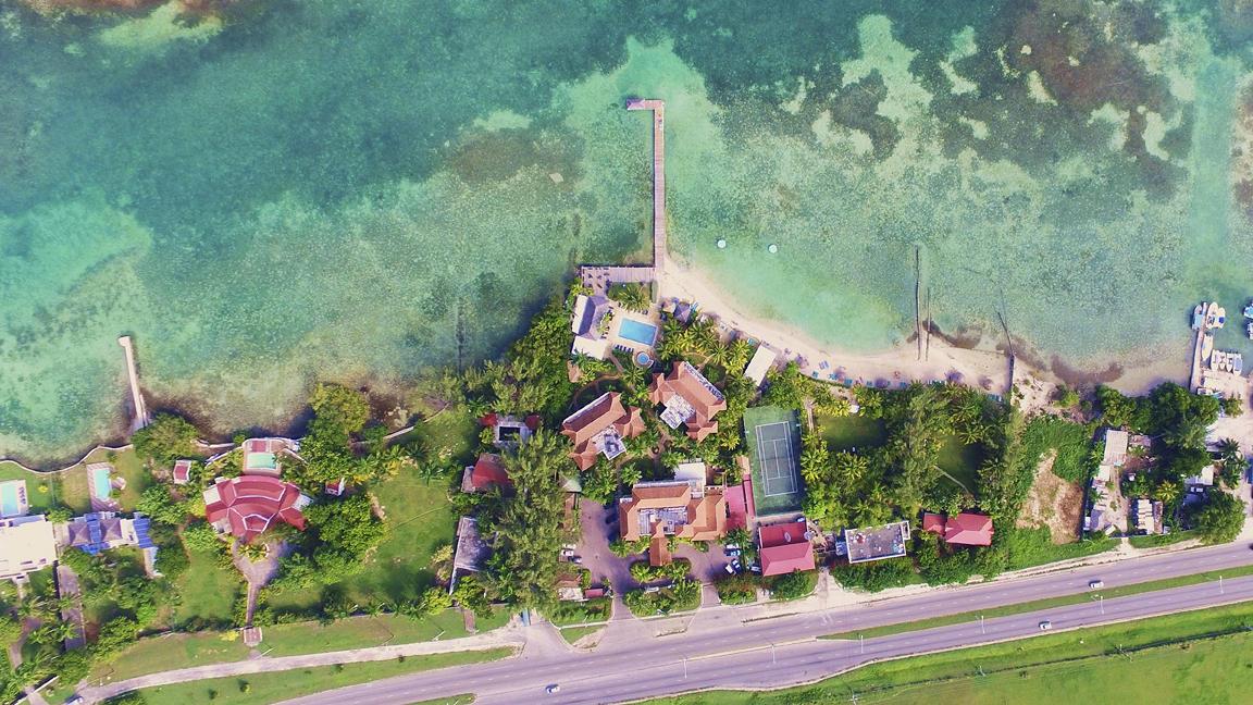 Aerial view of St Ann's Bay, Jamaica