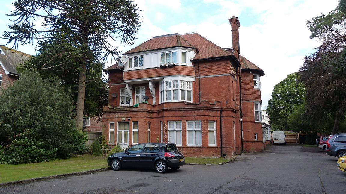Converted block of flats, East Cliff, Bournemouth