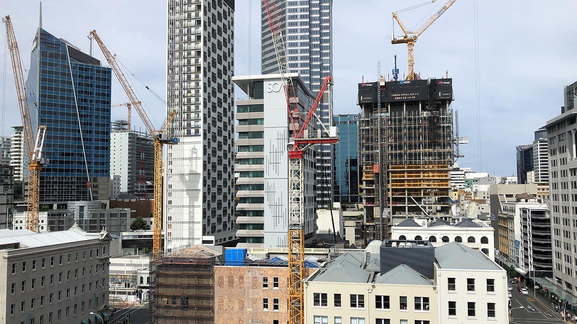 Buildings in Auckland's central business district, New Zealand
