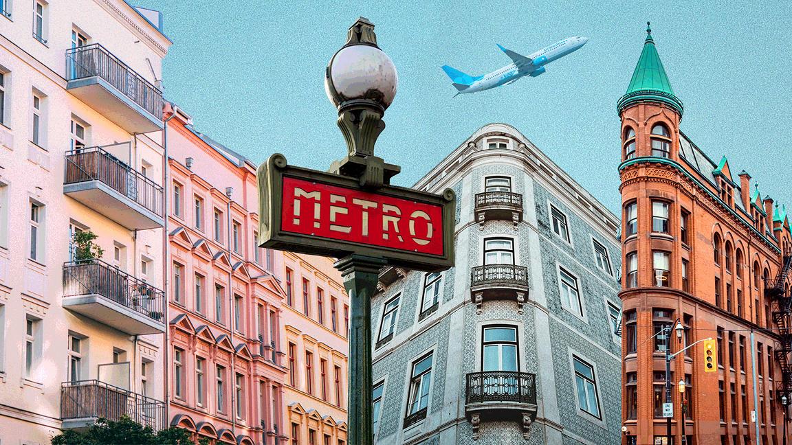 Montage of urban buildings