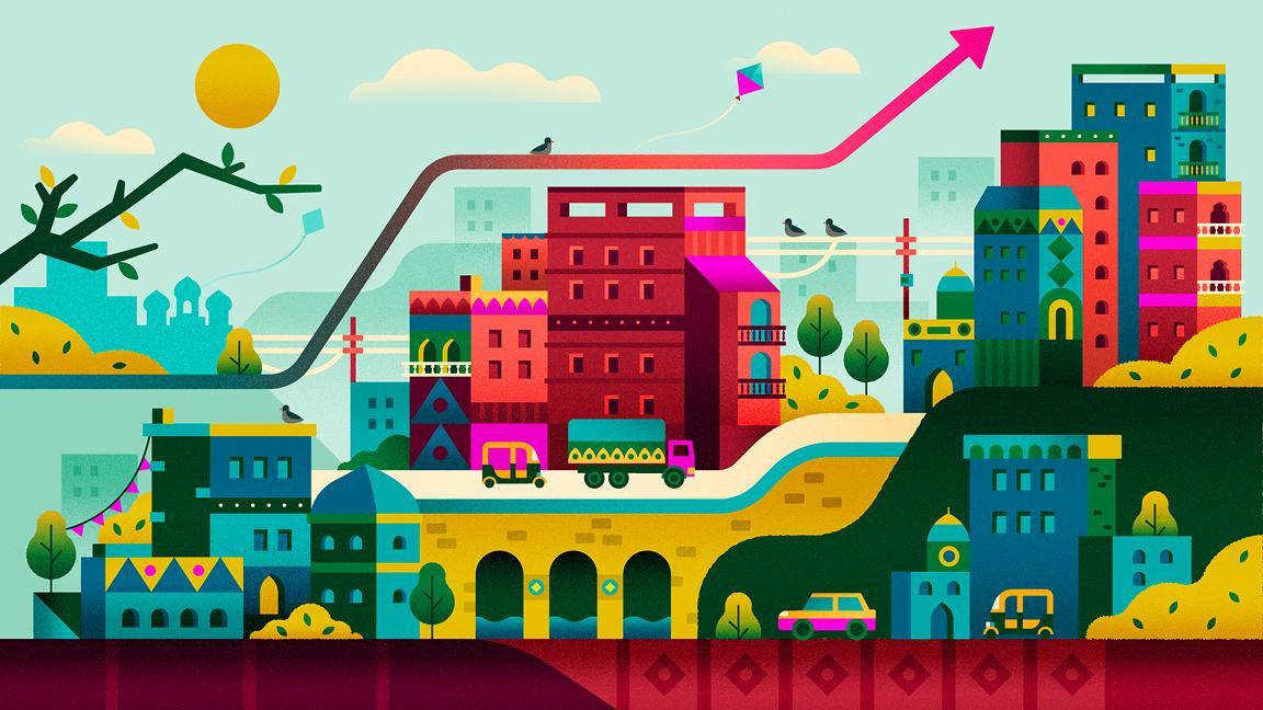 India urbanisation illustration Shaivalini Kumar