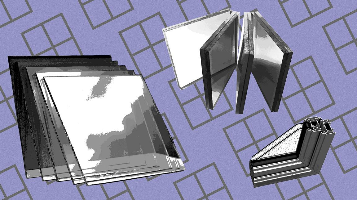 Montage of glass panes