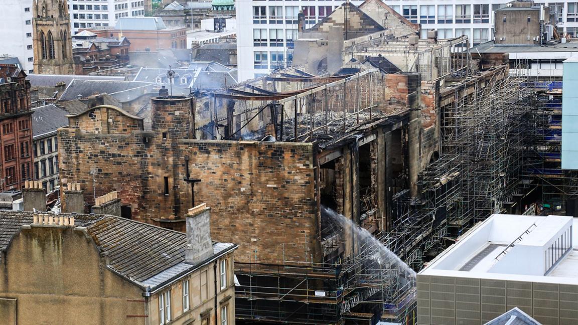 Glasgow School of Art following fire damage in June 2018
