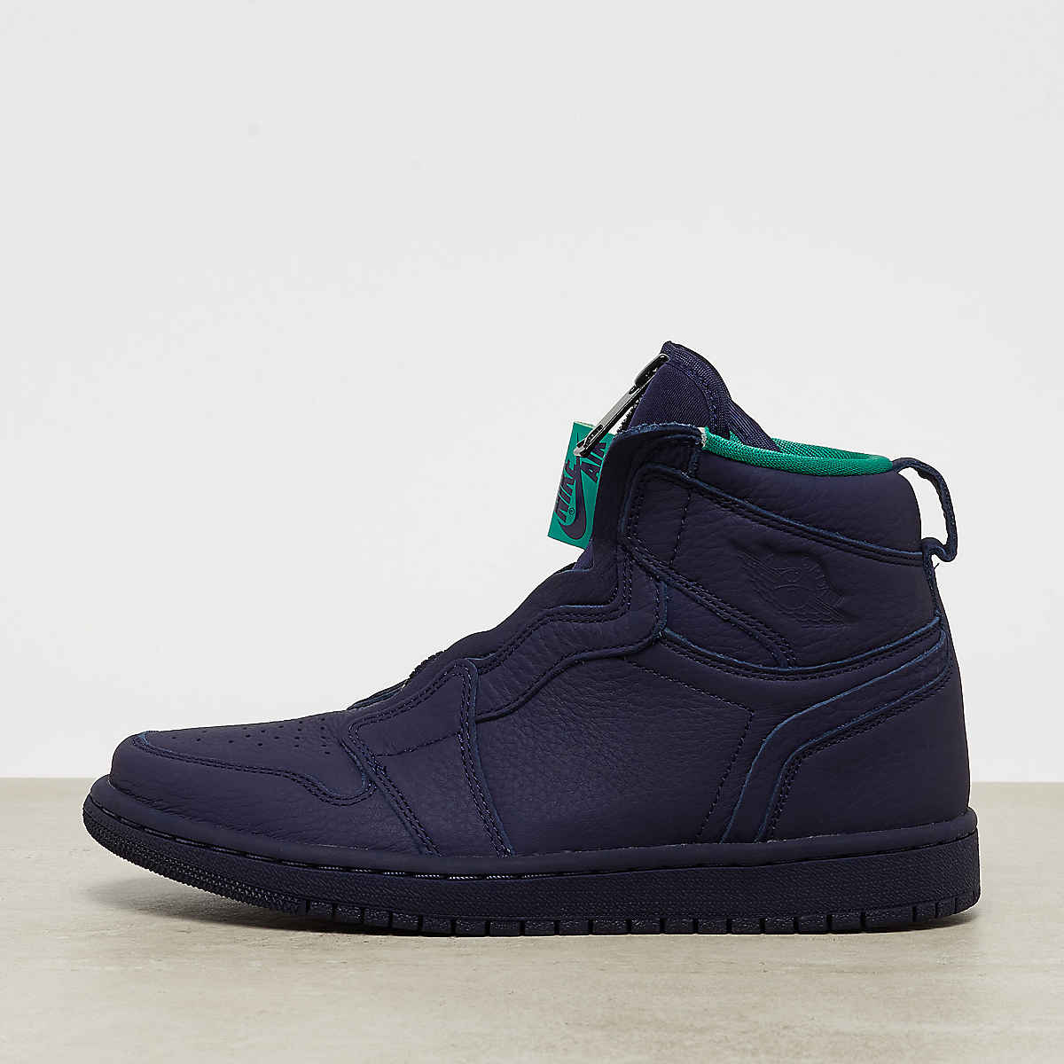 new products b5131 ae880 Wmns Air Jordan 1 High Zip blackened blue neptune green-wht
