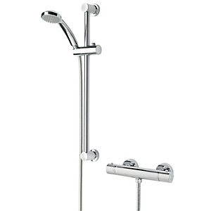 Bristan Frenzy Thermostatic Bar Mixer Shower Valve & Adjustable Riser Kit Best Price, Cheapest Prices