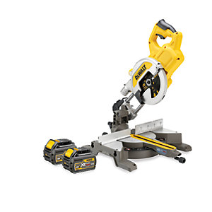 DEWALT DCS777T2 Xr Flexvolt 54V Cordless Sliding Mitre Saw 216mm With 2 X 6.0Ah Batteries