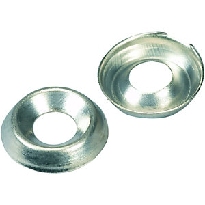 Wickes Nickel Screw Cup Washers - No.6 Pack of 20