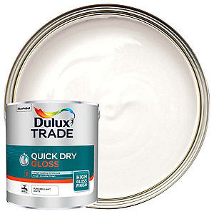 Dulux Trade Quick Dry Gloss Pure Brilliant White 2.5L