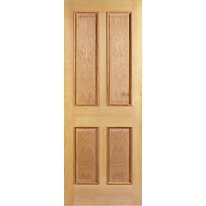 Wickes Denham Oak 4 Panel Internal Door - 1981mm