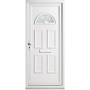 Wickes Carolina Pre-hung Upvc Front Door Set 2085 x 920mm Right Hand Hung