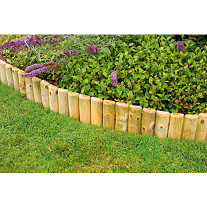 Wickes Half Log Timber Border Edging Roll - 150 x 1800 mm